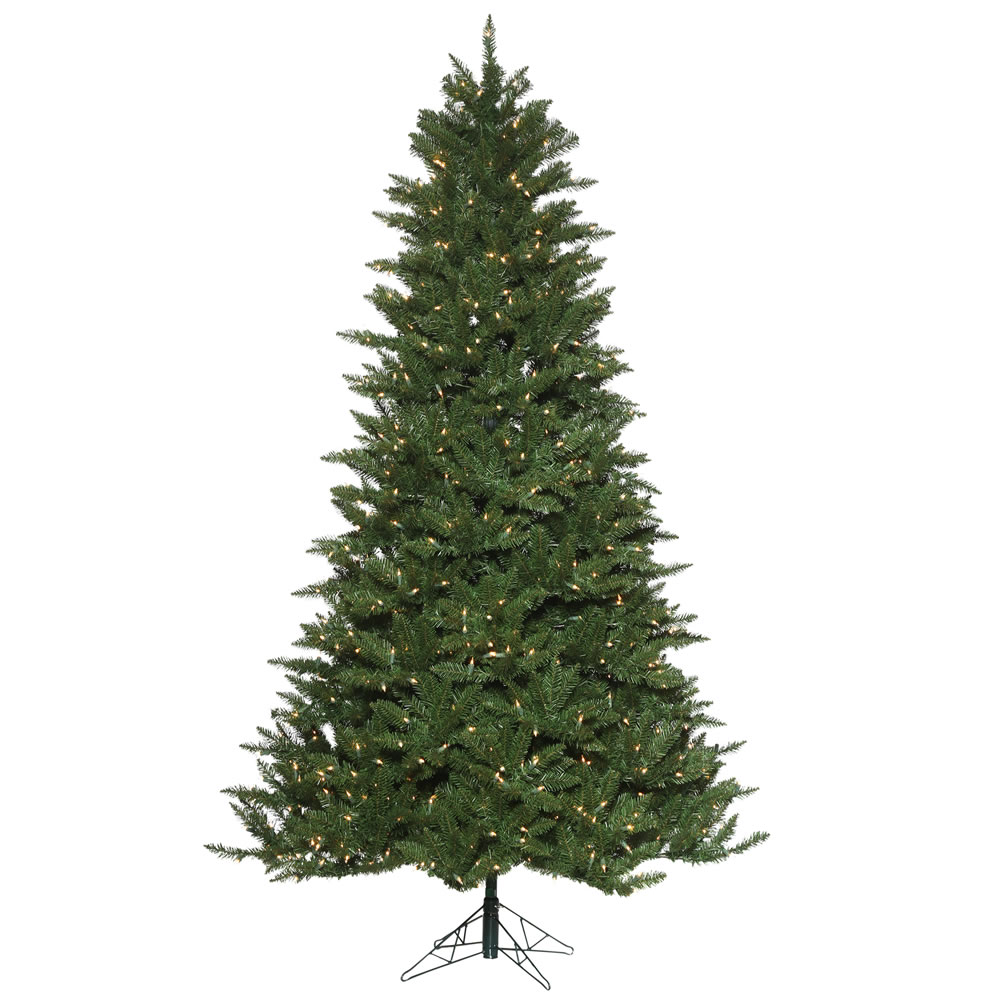 10 Foot Norwood Pine EZ Plug Artificial Christmas Tree 1550 DuraLit Incandescent Clear Mini Lights