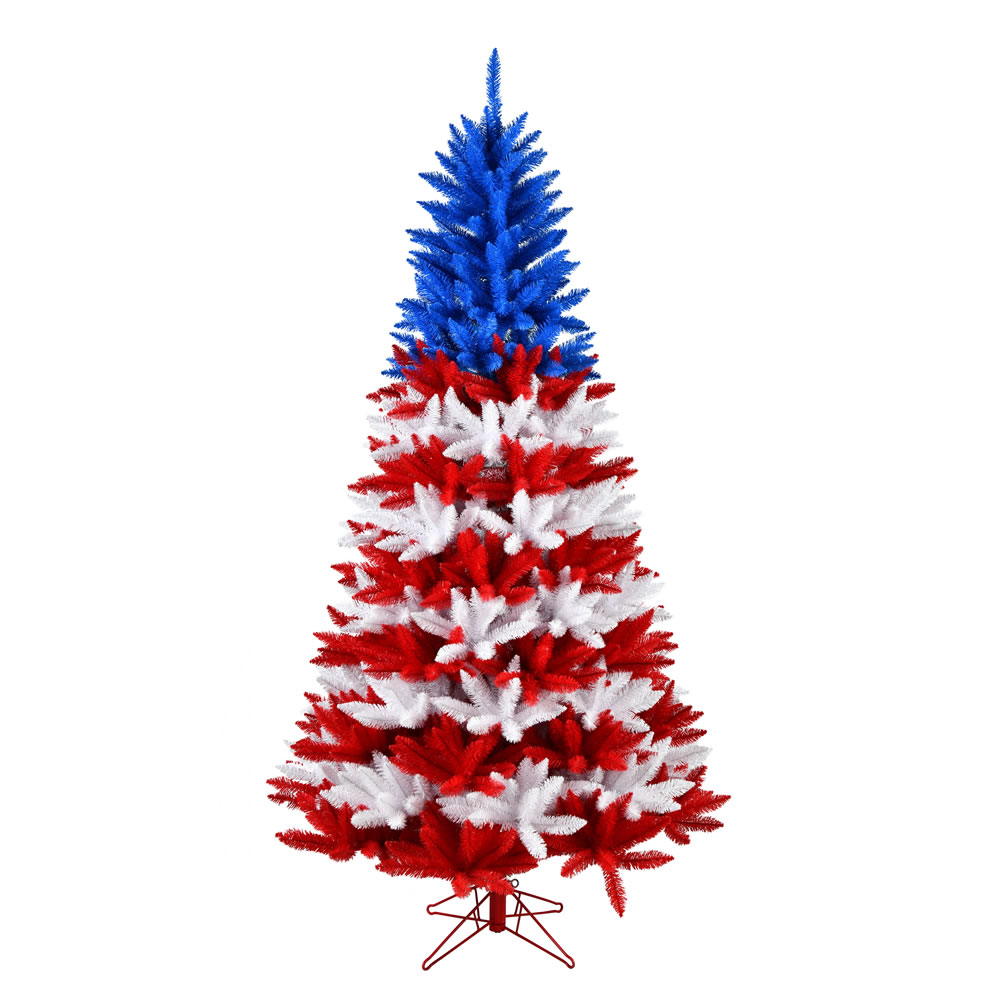 7.5 Foot Centennial Pine Patriotic Artificial Christmas Tree Unlit