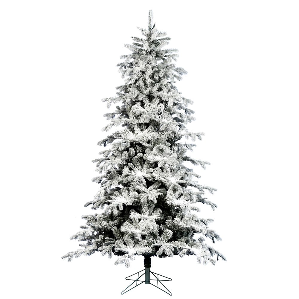 7.5 Foot Flocked York Spruce Artificial Christmas Tree Unlit