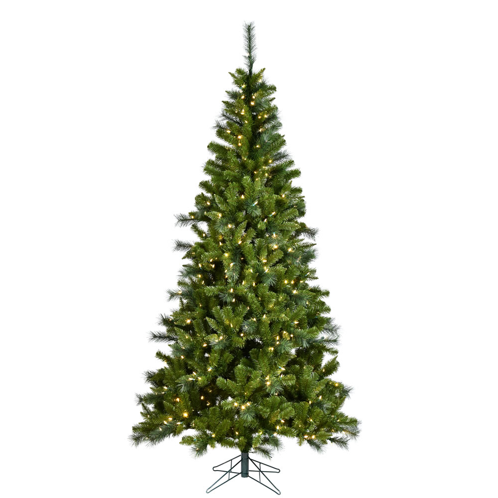 7.5 Foot Malvern Mixed Pine EZ Plug Artificial Christmas Tree 500 DuraLit LED Music Controlled Color Changing M5 Italian Mini Lights