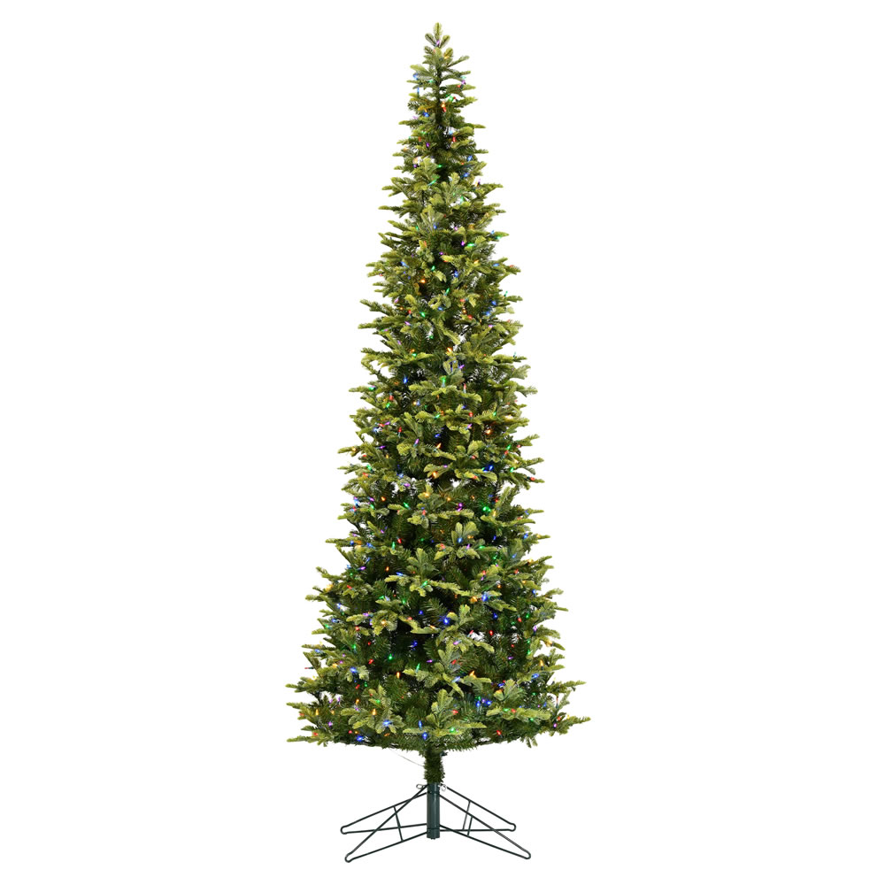 4.5 Foot Belmont Balsam Pencil Fir Artificial Christmas Tree - 150 DuraLit LED Multi-Colored Mini Lights