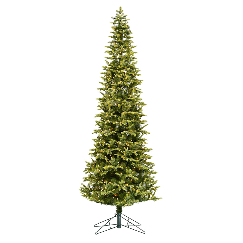 6.5 Foot Belmont Balsam Pencil Fir Artificial Christmas Tree - 350 DuraLit LED Warm White Mini Lights