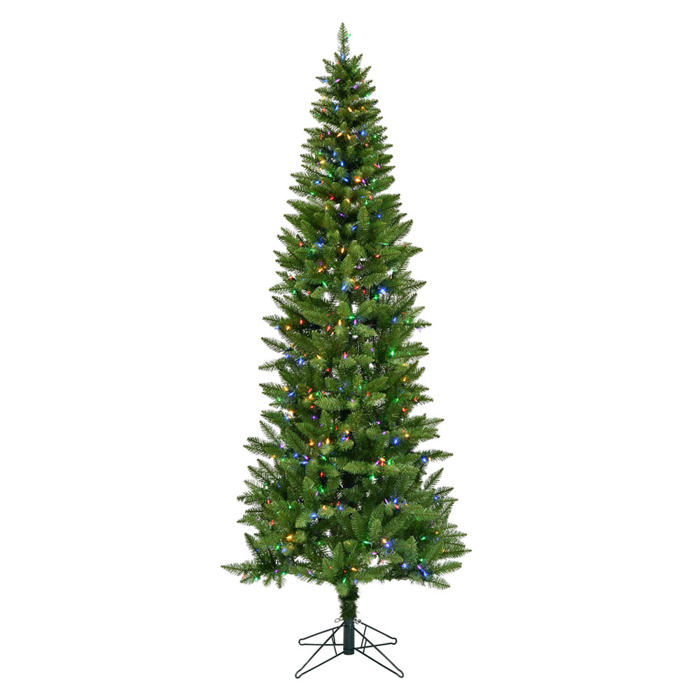 10 Foot Creswell Pine Pencil Artificial Christmas Tree - 900 DuraLit LED Warm White Mini Lights