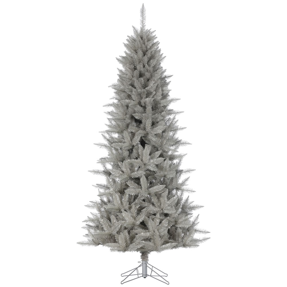 6.5 Foot Platinum Pencil Fir Artificial Christmas Tree Unlit