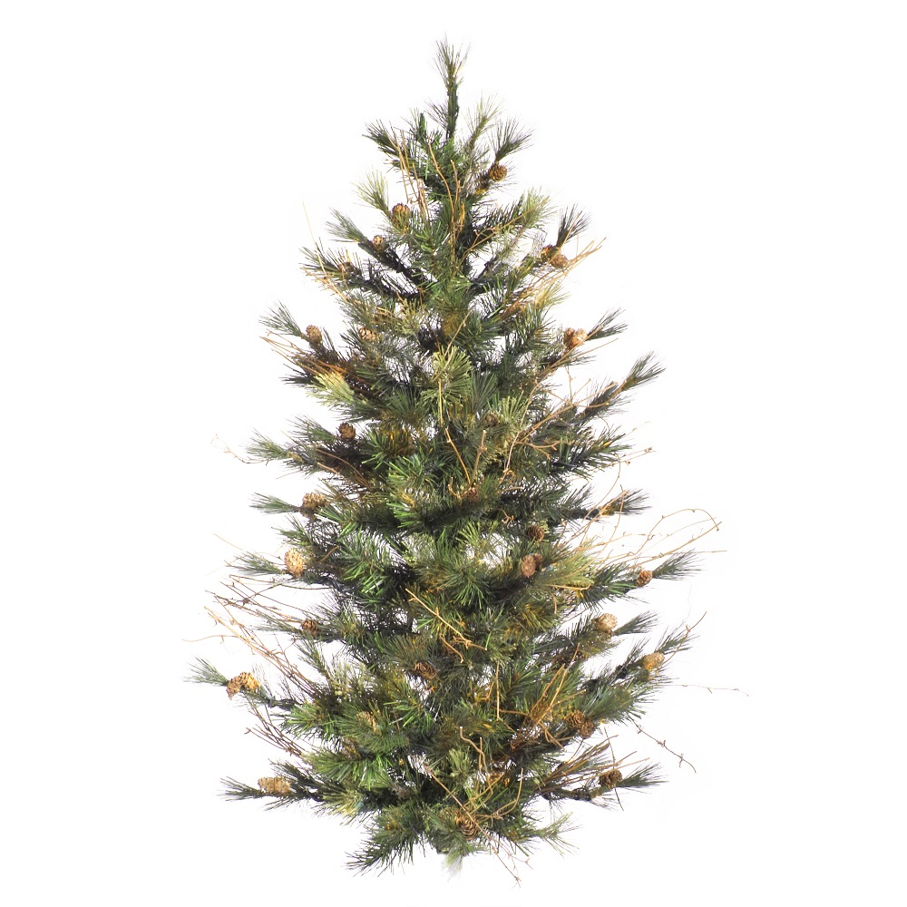 4 Foot Mixed Country Pine Artificial Christmas Wall Tree Unlit