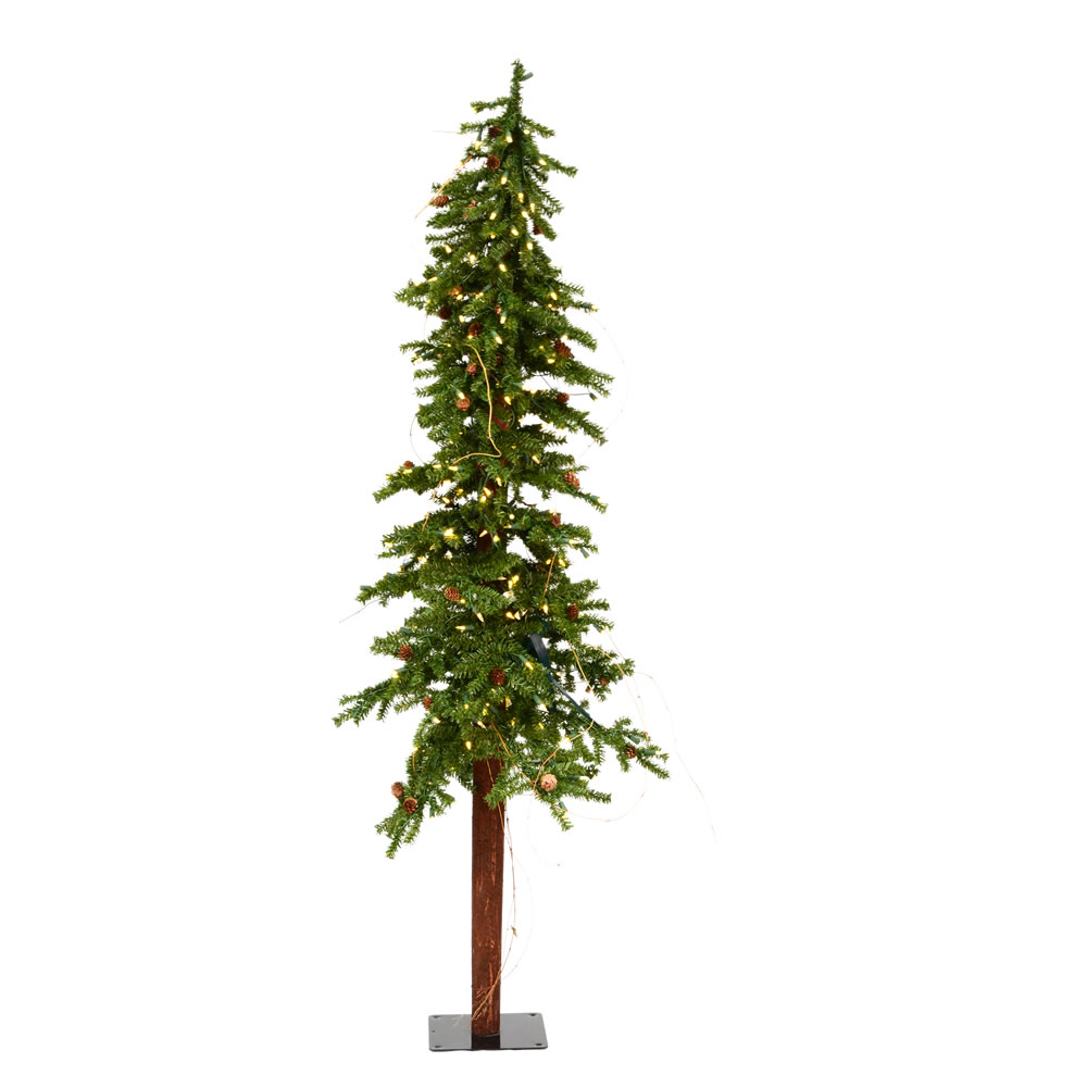 6 Foot Alpine Artificial Christmas Tree 250 Dura-Lit LED Warm White Lights