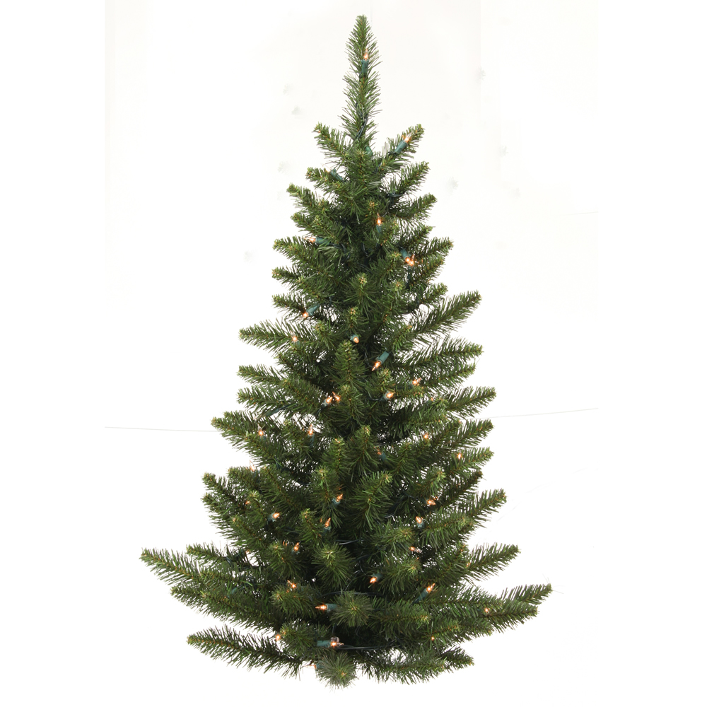 3 Foot Camdon Fir Half Artificial Christmas Wall Tree 50 DuraLit Incandescent Clear Mini Lights