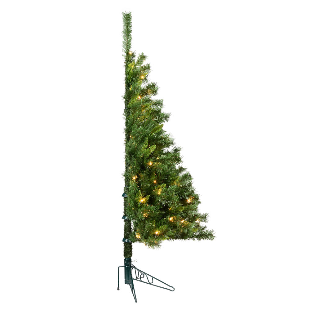5 Foot Imperial Pine Artificial Christmas Wall Tree 150 DuraLit Incandescent Clear Mini Lights