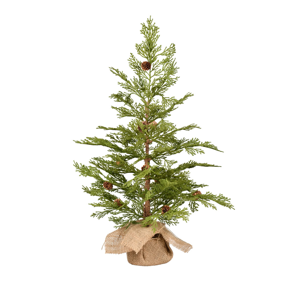 2 Foot Cedar Pinecone Artificial Tree