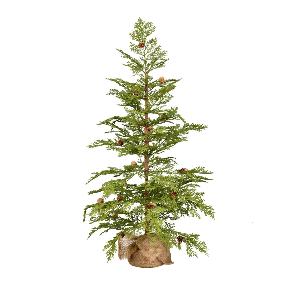 3 Foot Cedar Pinecone Artificial Tree