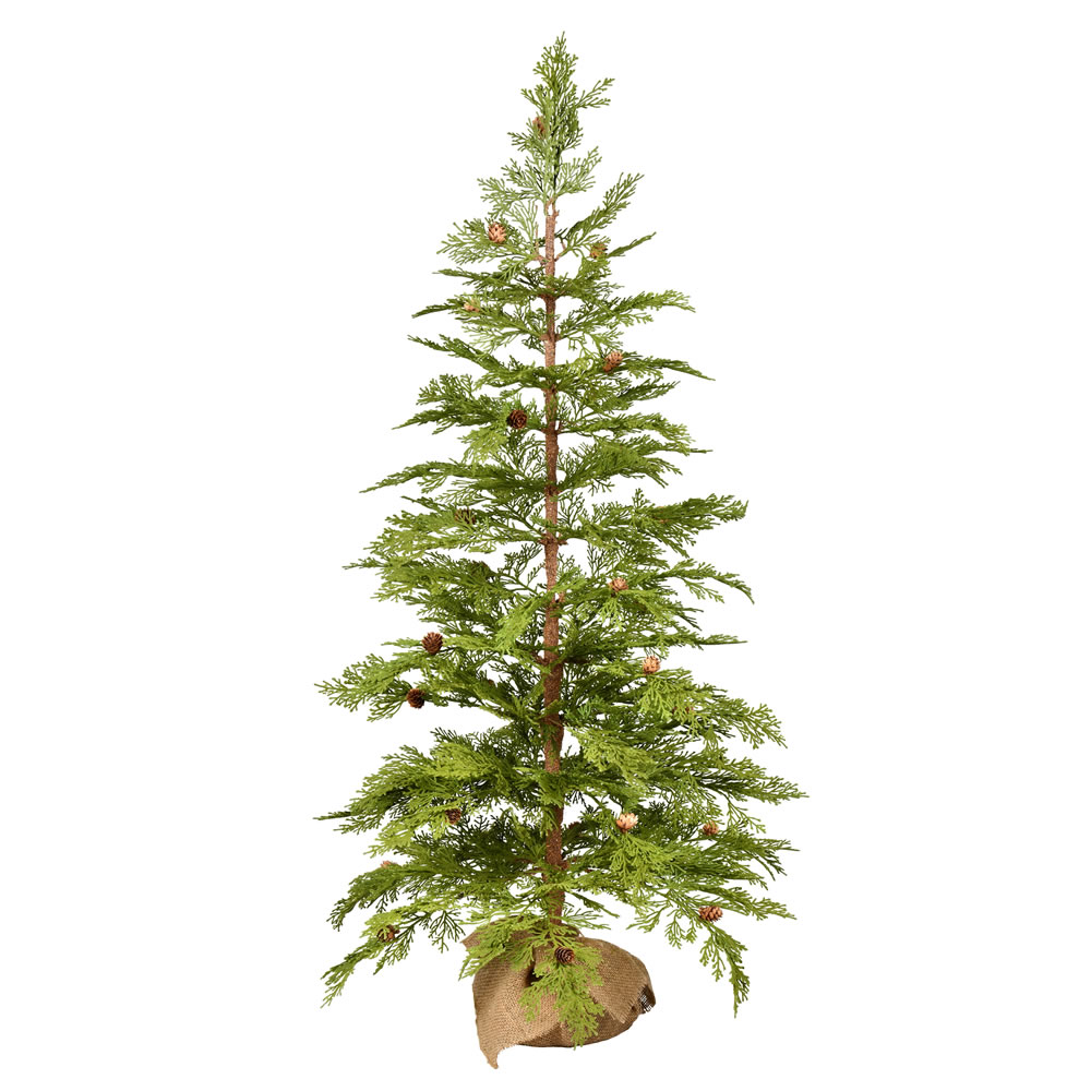4 Foot Cedar Pinecone Artificial Tree