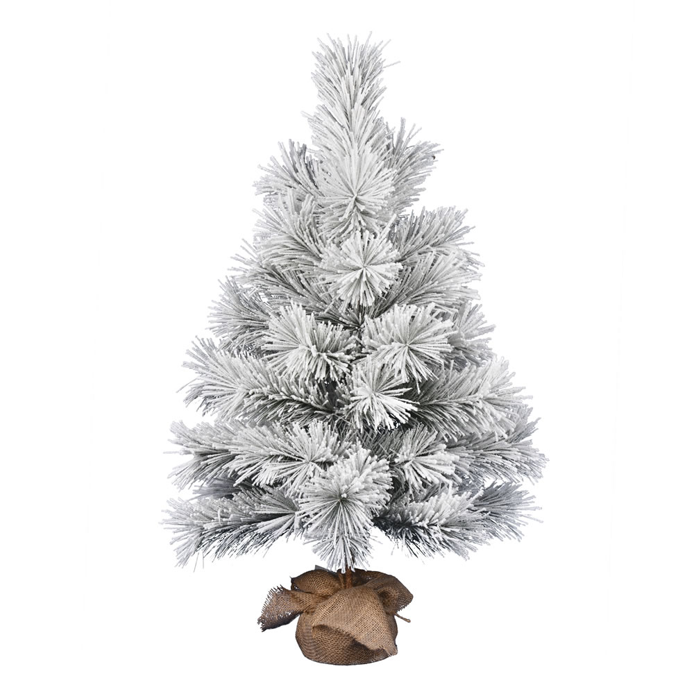 3 Foot Frosted Beckett Pine Tabletop Artificial Christmas Tree Unlit