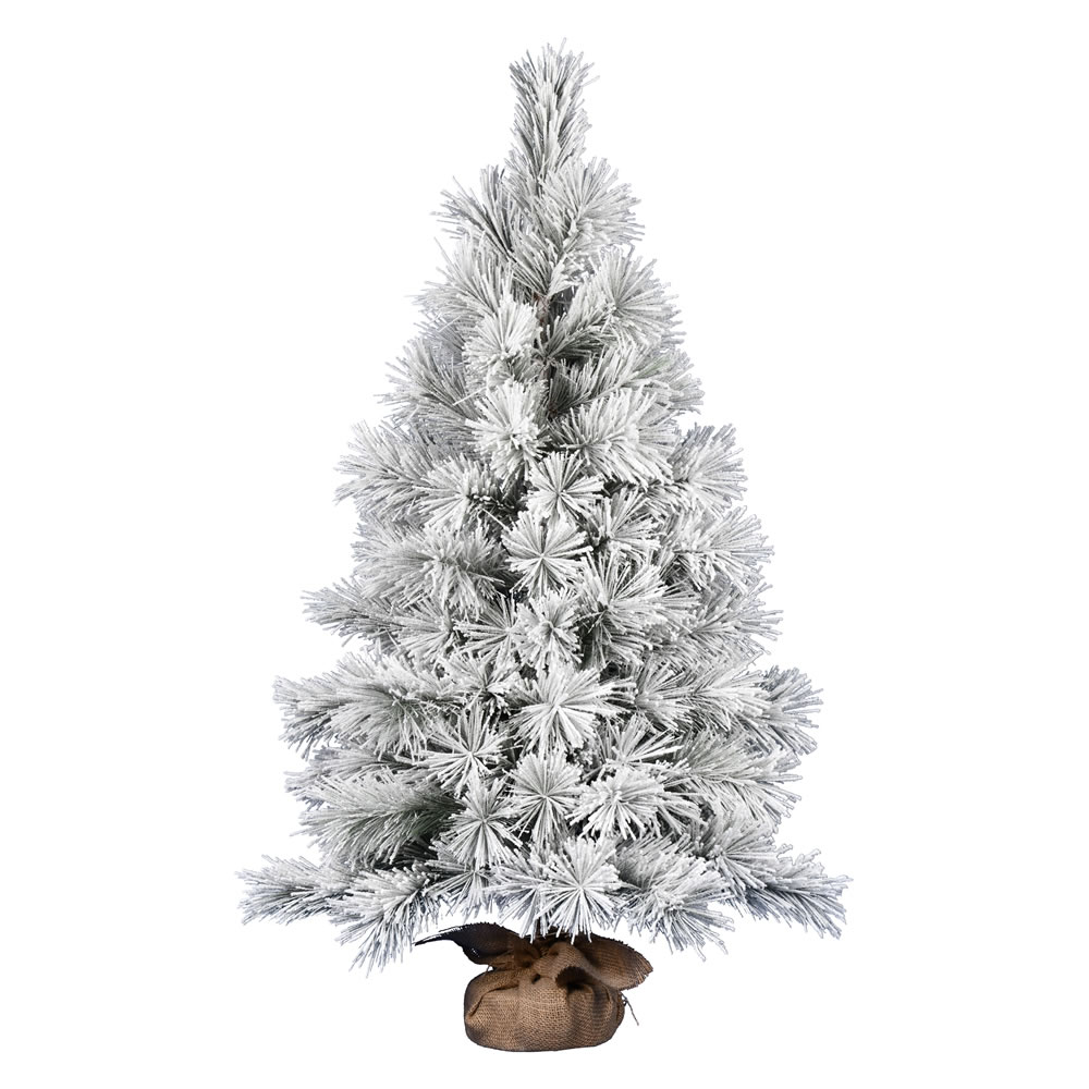 4 Foot Frosted Beckett Pine Tabletop Artificial Christmas Tree Unlit