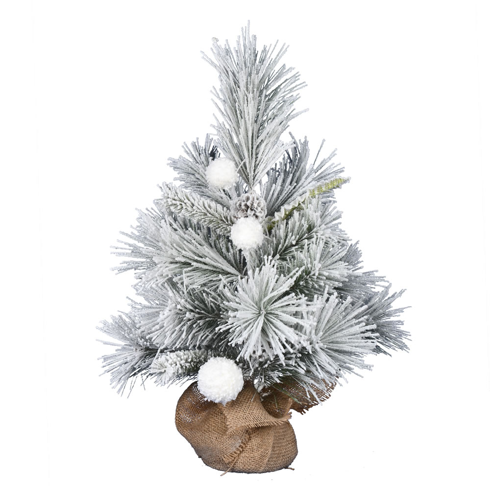 2 Foot Frosted Beacon Pine Tabletop Artificial Christmas Tree Unlit