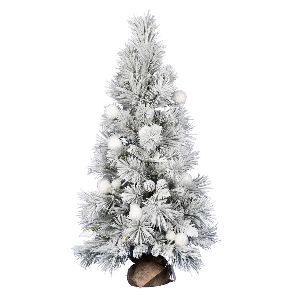 4 Foot Frosted Beacon Pine Tabletop Artificial Christmas Tree Unlit