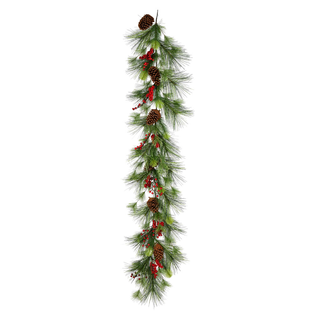 6 Foot Morris Pine Artificial Christmas Garland Unlit