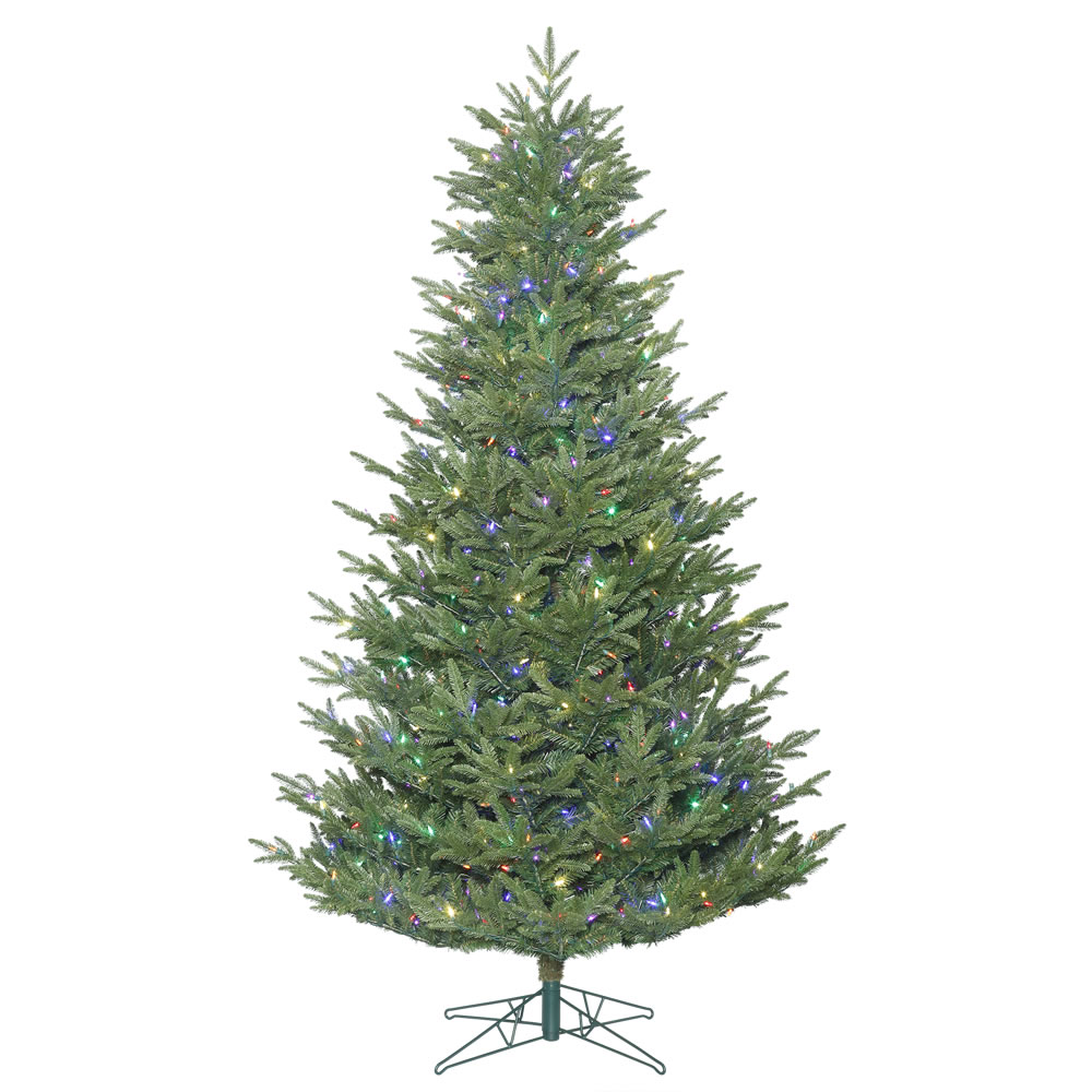 10 Foot Medium Deluxe Frasier Fir Artificial Christmas Tree 1150 DuraLit LED Multi Color Italian Mini Lights