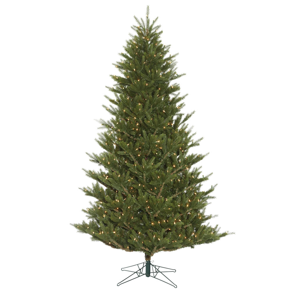 6.5 Foot Fresh Cut Frasier Artificial Christmas Tree 500 DuraLit Incandescent Clear Mini Lights