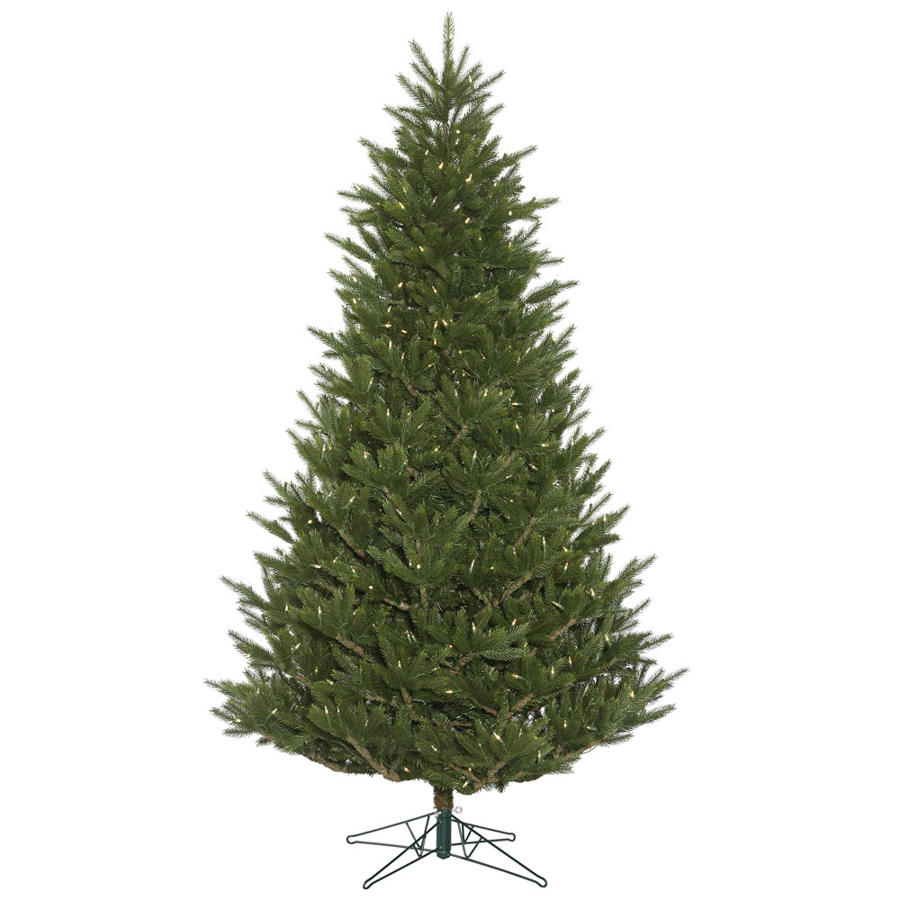 6.5 Foot Fresh Cut Frasier Artificial Christmas Tree 500 DuraLit LED Warm White Mini Lights