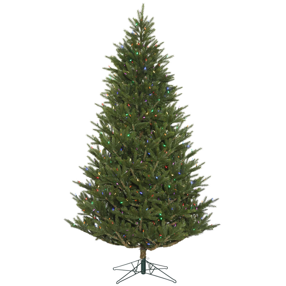 6.5 Foot Fresh Cut Frasier Fir Artificial Christmas Tree 500 DuraLit LED Multi-Colored Mini Lights