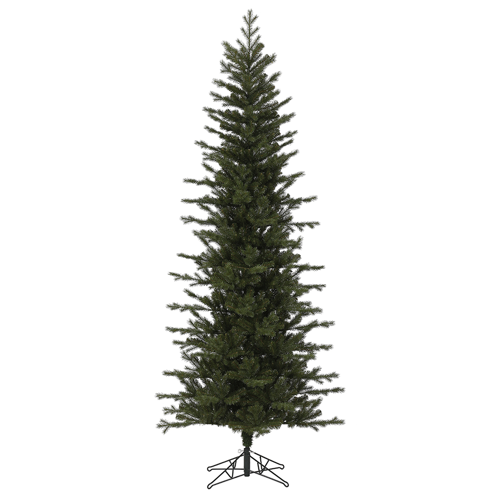 7.5 Foot Hillside Pencil Spruce Artificial Christmas Tree Unlit