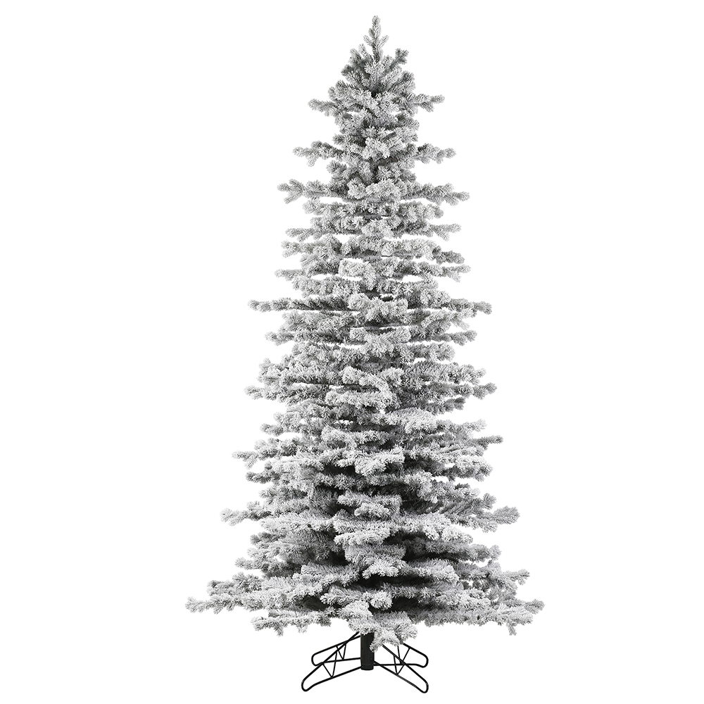 10 Foot Flocked Tilden Spruce Artificial Christmas Tree Unlit