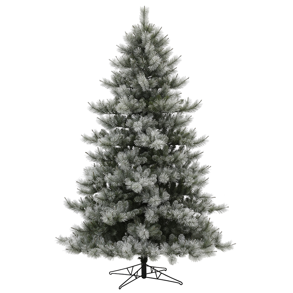 10 Foot Flocked Cayce Pine Artificial Christmas Tree Unlit