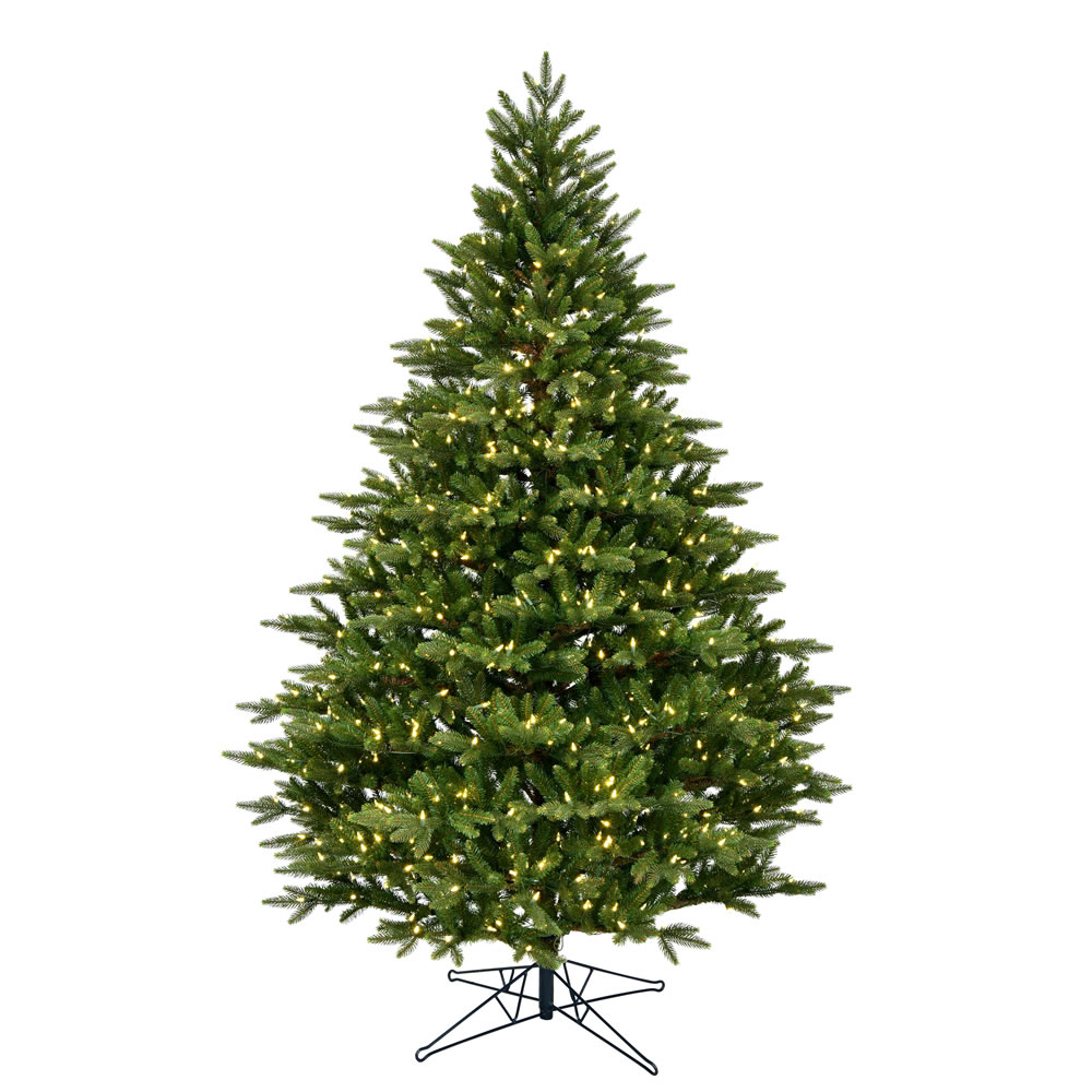 3.5 Foot Douglas Fir Artificial Christmas Tree 200 DuraLit LED M5 Italian Warm White Mini Lights