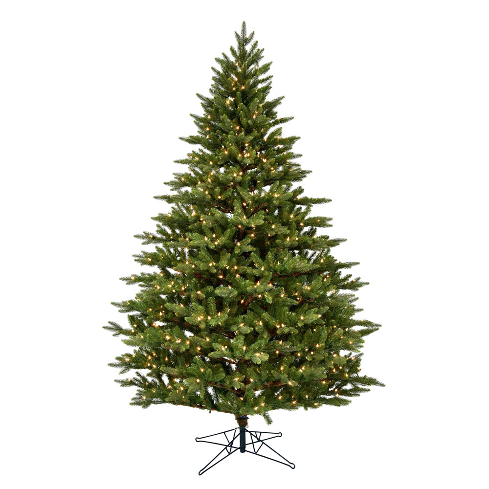 4.5 Foot Douglas Artificial Christmas Tree 300 DuraLit Incandescent Clear Mini Lights