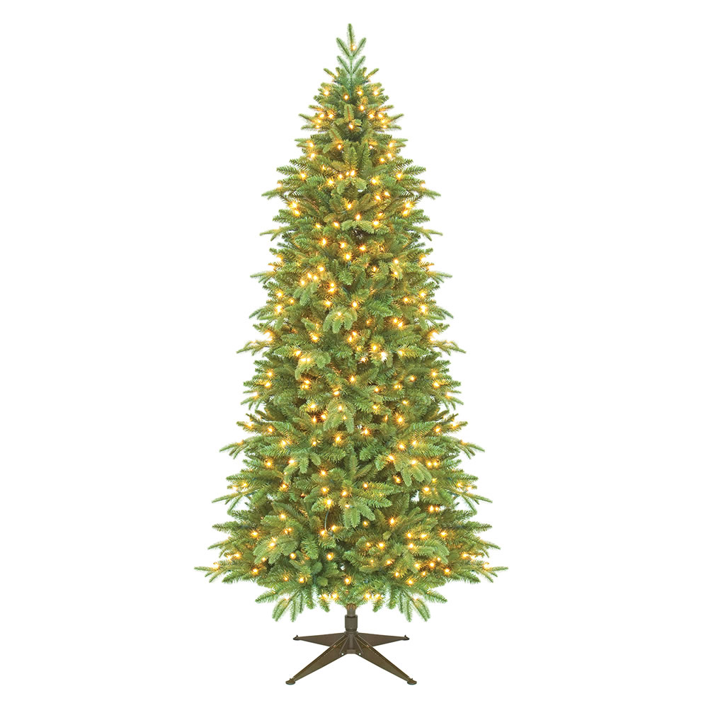 9.5 Foot Slim Asheville Fraiser Artificial Christmas Tree 700 DuraLit Incandescent Clear Mini Lights