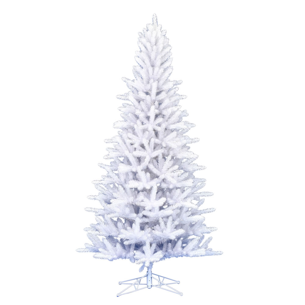 6.5 Foot Shiny White Spruce Artificial Christmas Tree Unlit