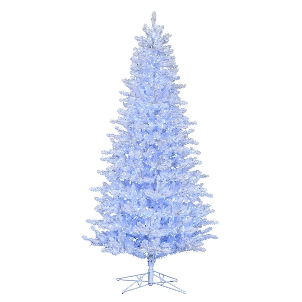 12 Foot Shiny White Spruce Artificial Christmas Tree - 5850 Low Voltage LED Pure White Twinkle 3MM Lights