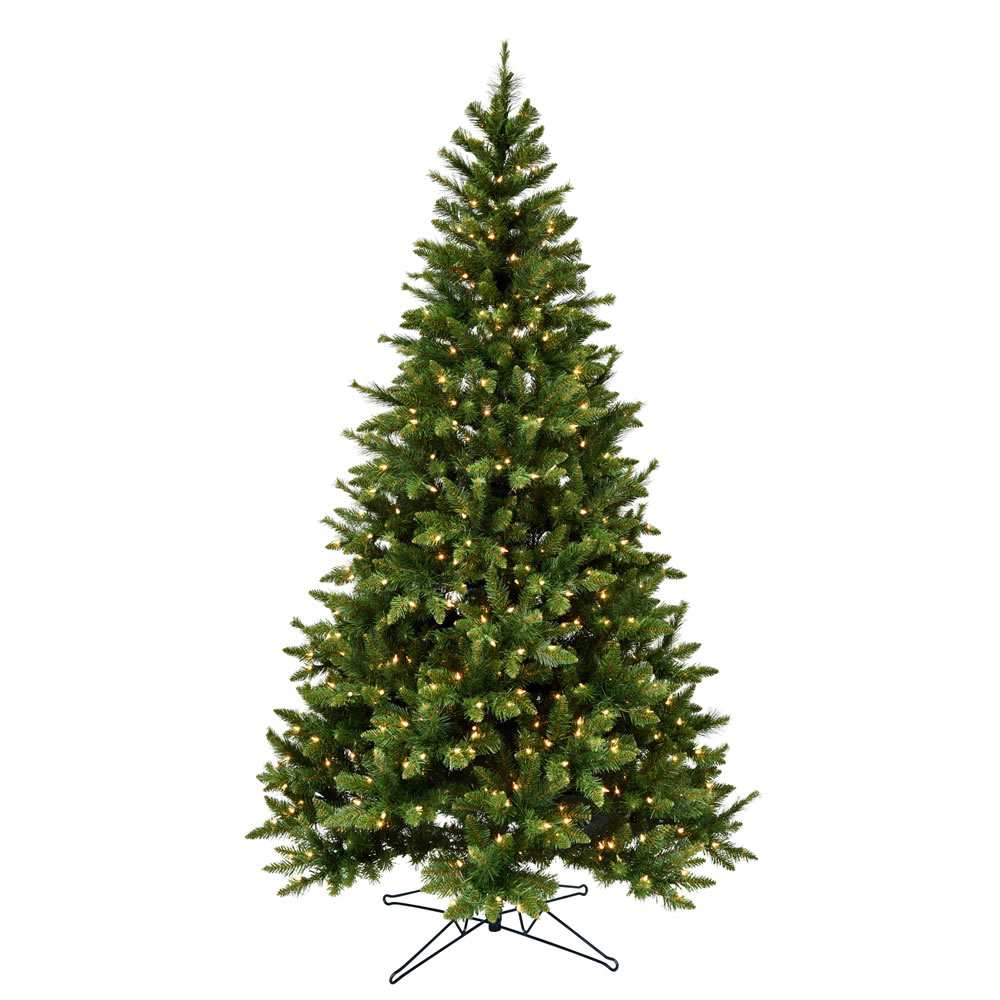 4.5 Foot Bennington Spruce Artificial Christmas Tree - 300 Duralit Incandescent Clear Mini Lights
