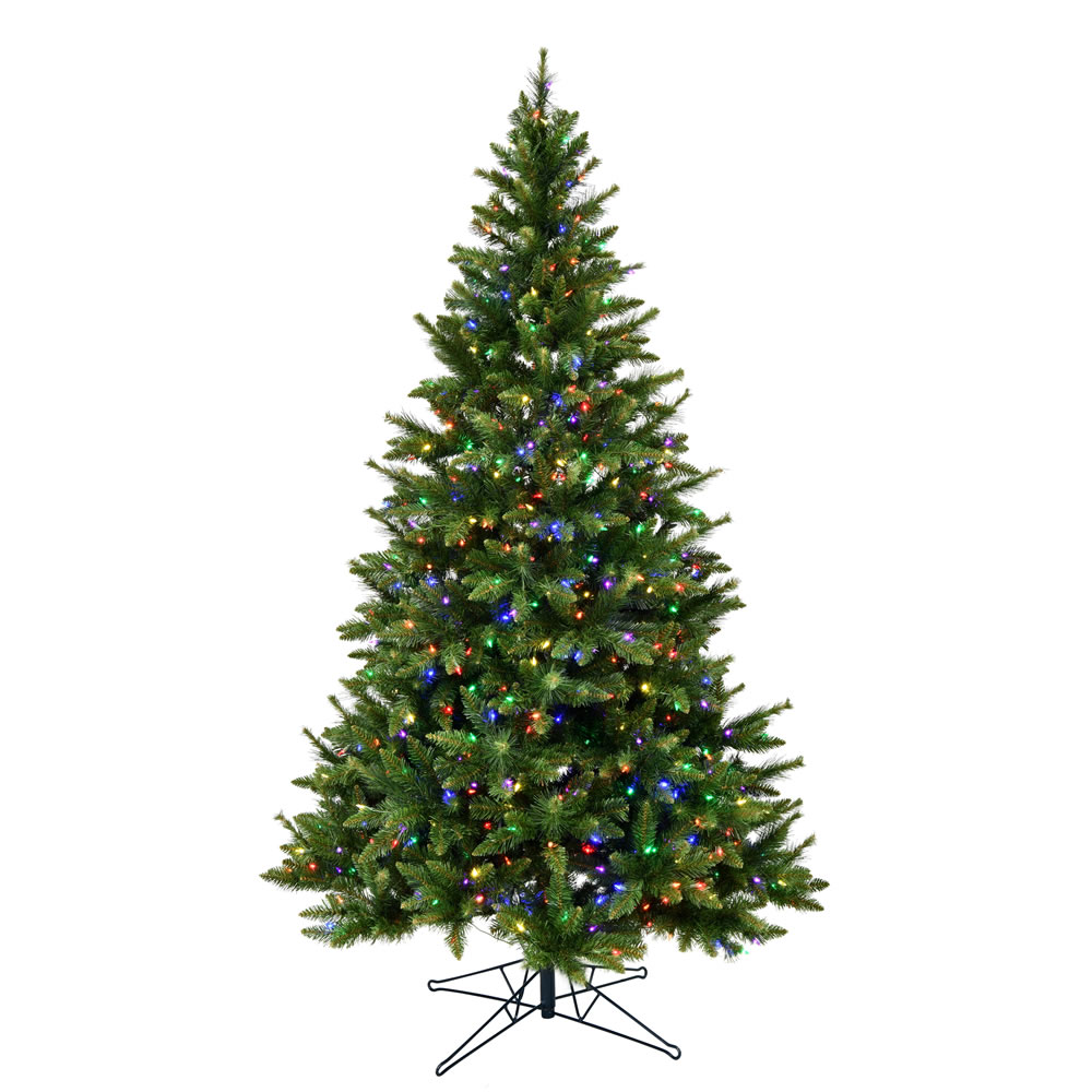 4.5 Foot Bennington Spruce Artificial Christmas Tree - 300 Duralit LED Multi Color Mini Lights