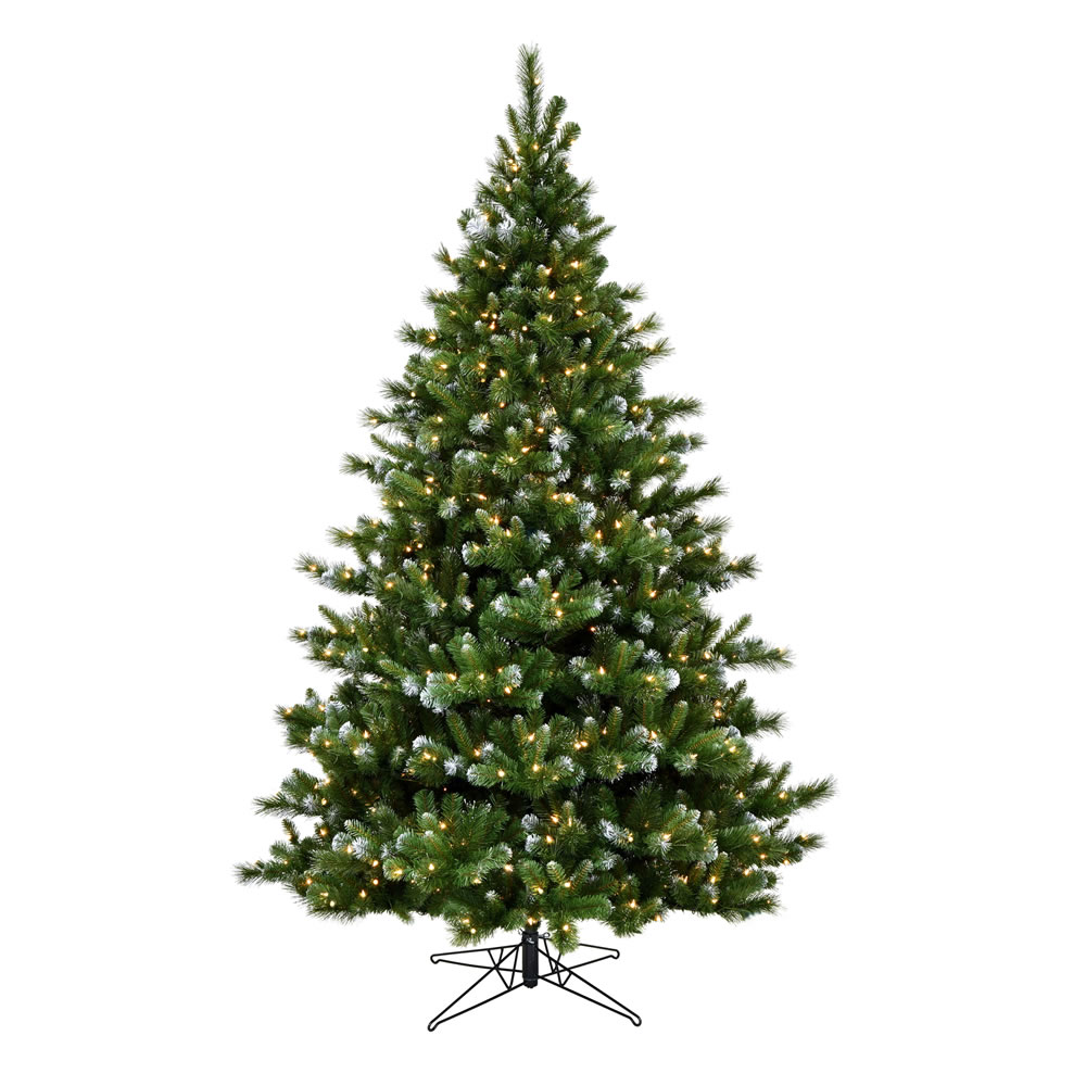 5.5 Foot New Haven Spruce Artificial Christmas Tree 400 Duralit Incandescent Clear Mini Lights