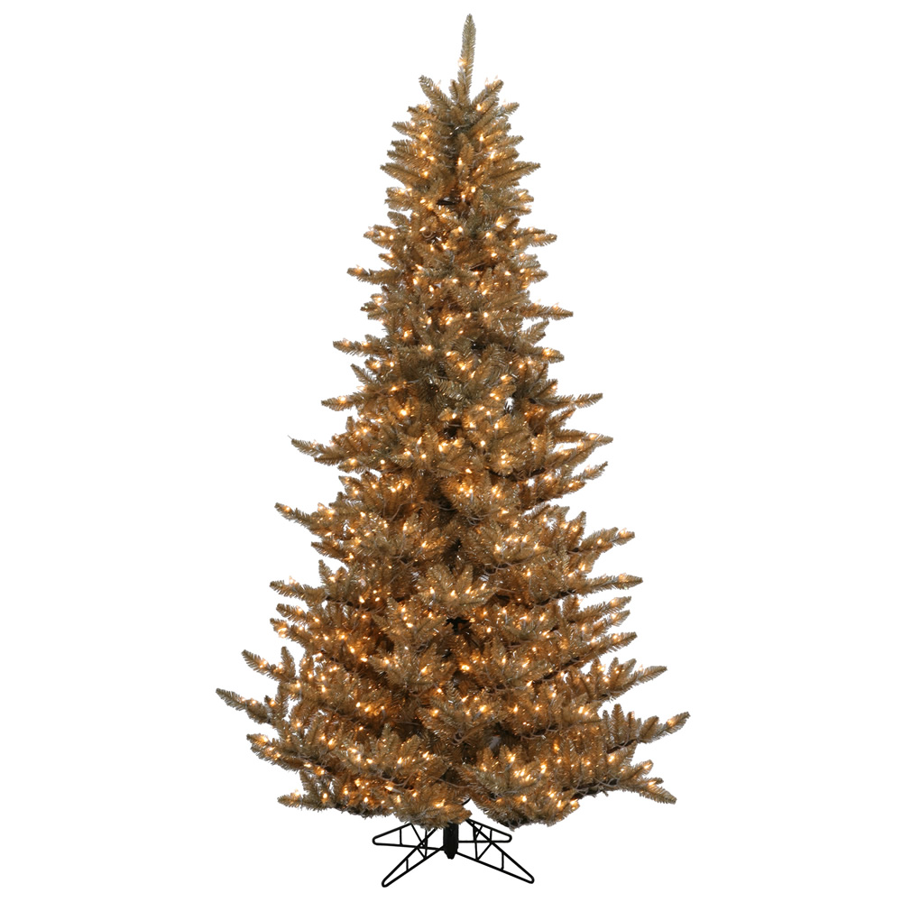 9 Foot Antique Champagne Fir Artificial Christmas Tree 1000 Dura-Lit Incandescent Clear Mini Lights