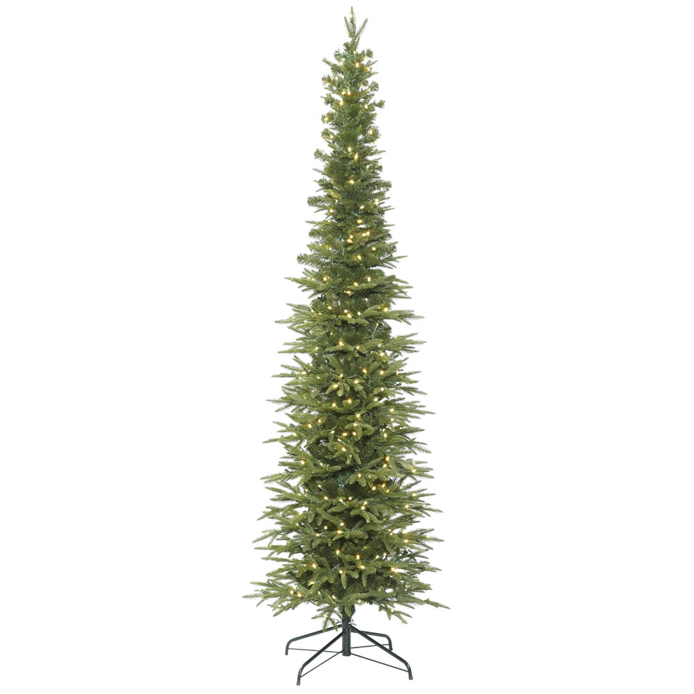 15 Foot Bixley Pencil Fir Artificial Christmas Tree 1800 DuraLit LED Warm White Italian Style Lights