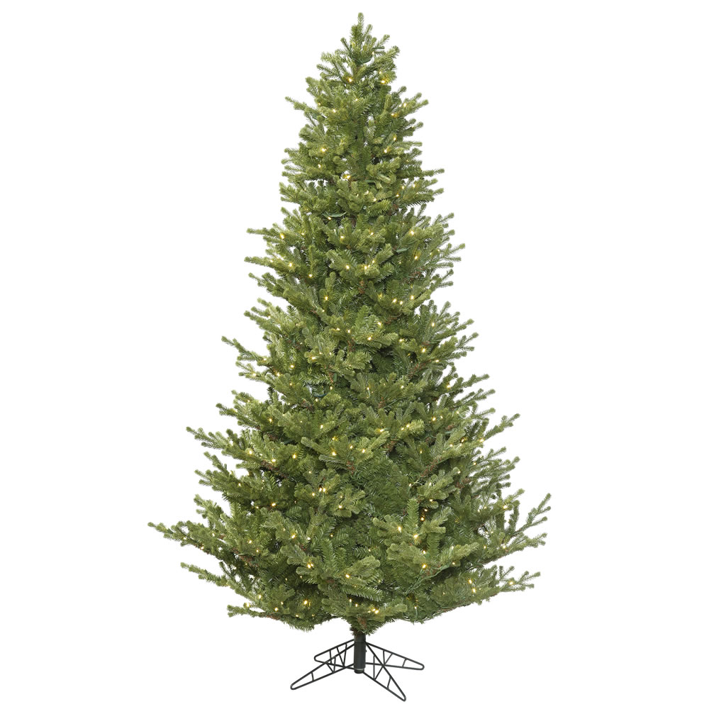 3.5 Foot Lexington Spruce Artificial Christmas Tree 200 DuraLit LED M5 Italian Warm White Mini Lights