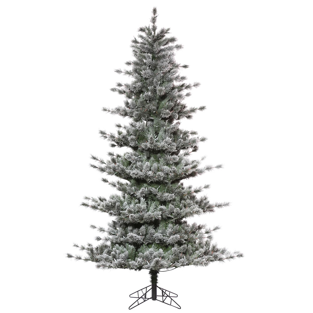 10 Foot Frosted Lacey Pine Artificial Christmas Tree Unlit