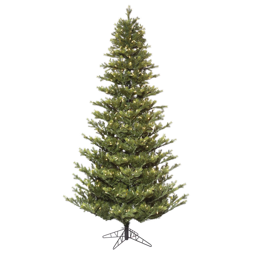 10 Foot Oak Frasier Fir Artificial Christmas Tree 1,200 DuraLit LED Warm White Mini Lights