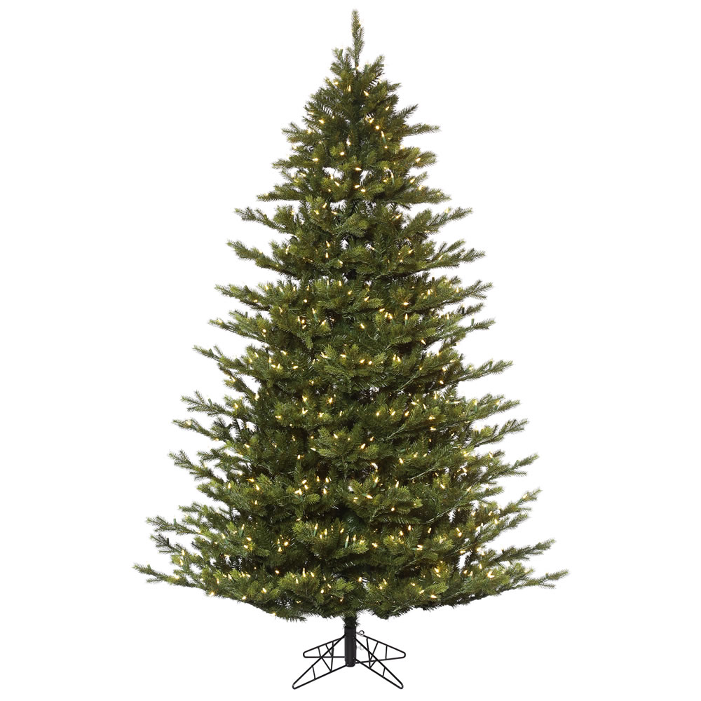 9 Foot Oak Frasier Fir Artificial Christmas Tree 1100 DuraLit LED Warm White Mini Lights