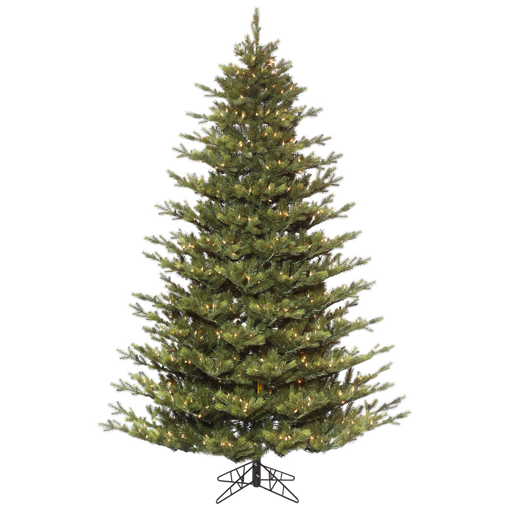 10 Foot Oak Frasier Fir Artificial Christmas Tree 1400 DuraLit Incandescent Clear Mini Lights