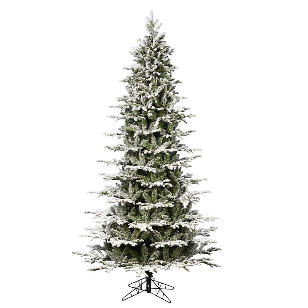 10 Foot Flocked Kamas Fraiser Slim Artificial Christmas Tree Unlit