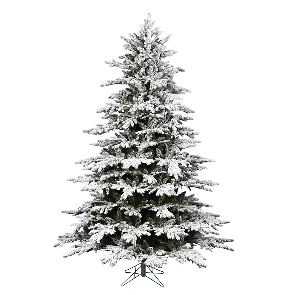 10 Foot Flocked Kamas Fraiser Artificial Christmas Tree Unlit