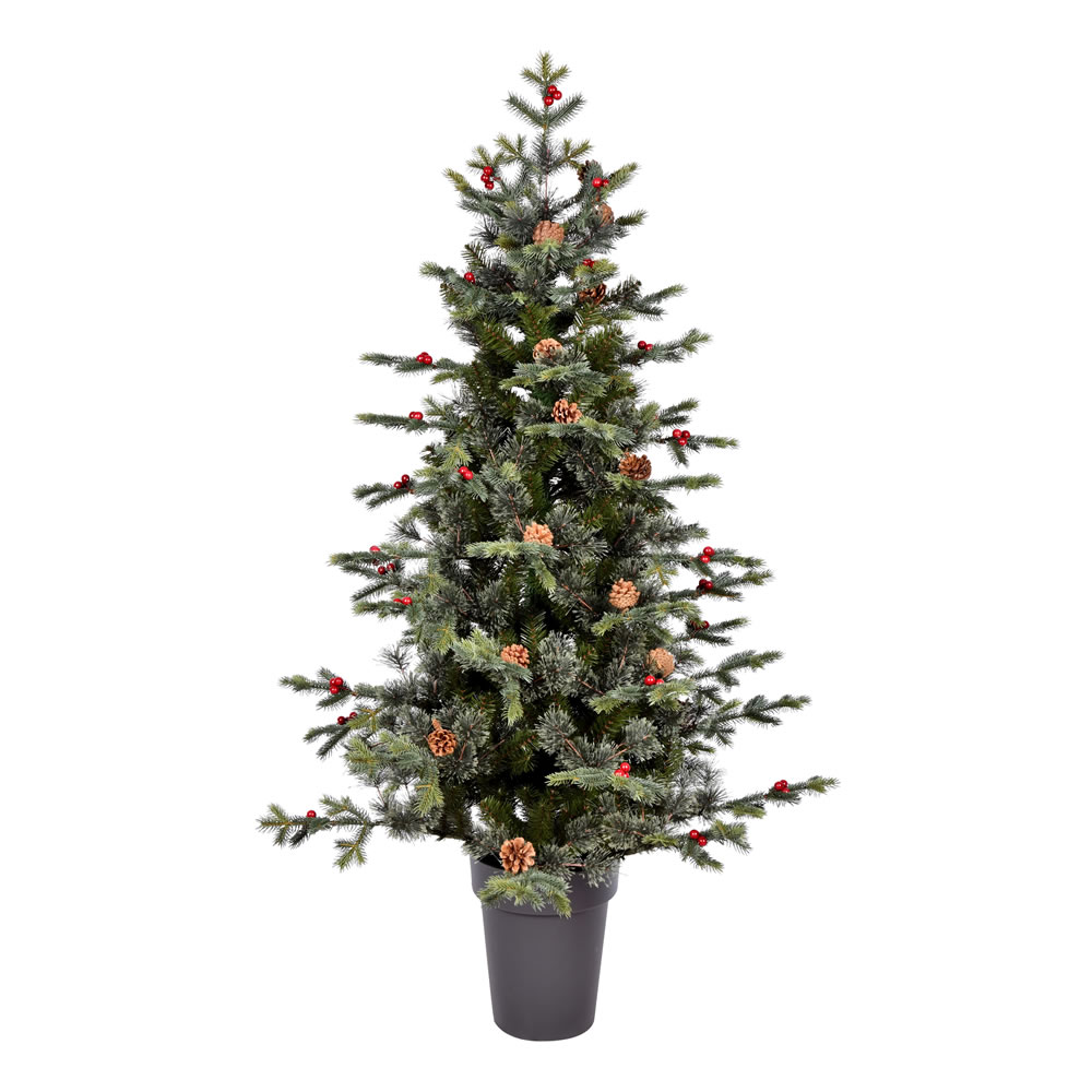 5 Foot Timberline Pine Potted Artificial Christmas Tree Unlit