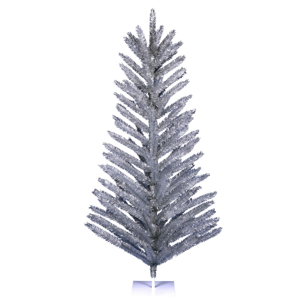 7 Foot Vintage Aluminum Artificial Christmas Tree Unlit
