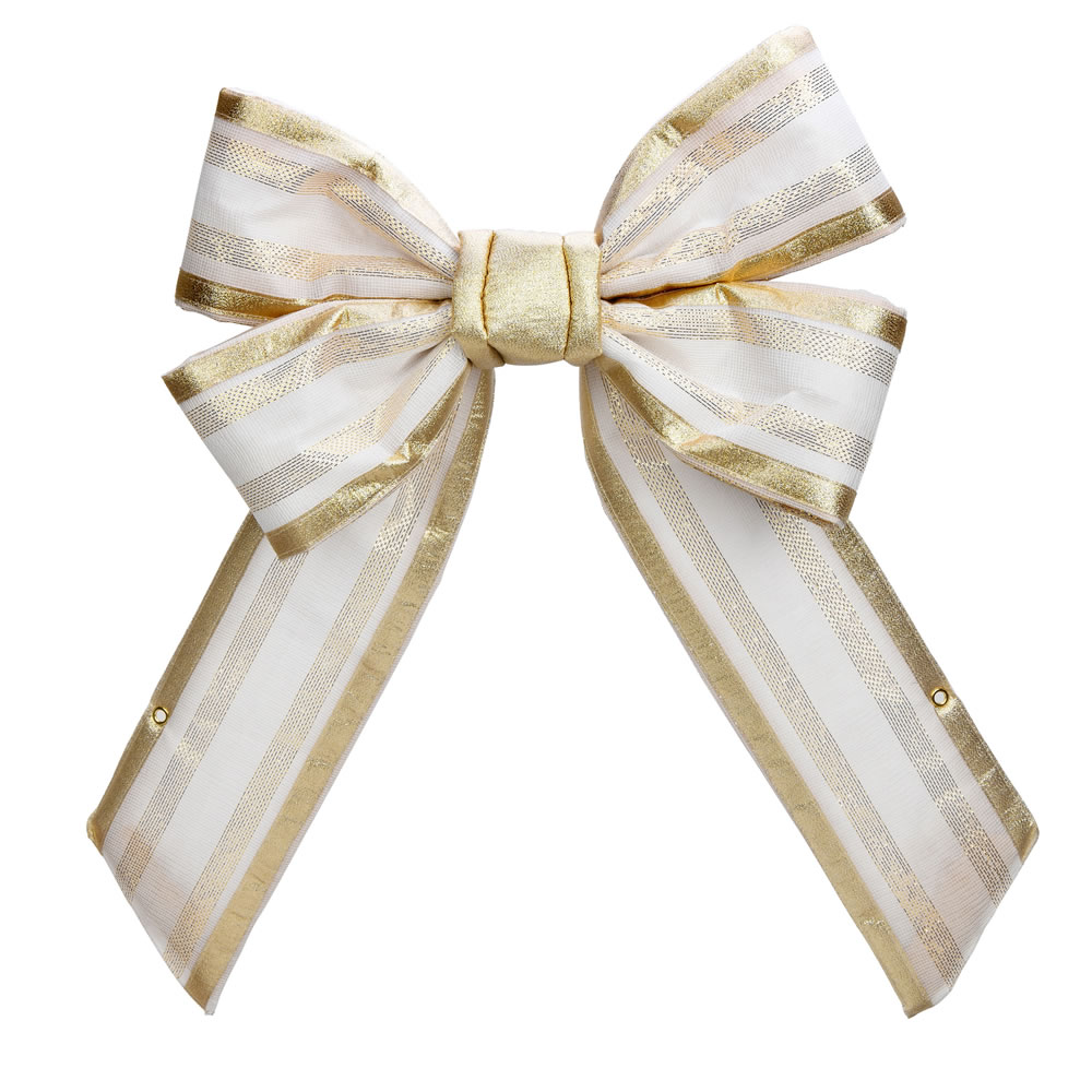 24 Inch Champagne Decorative Bow