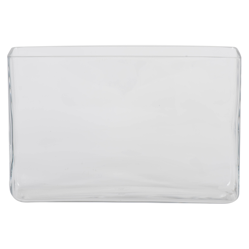 7 Inch Clear Rectangle Glass Container