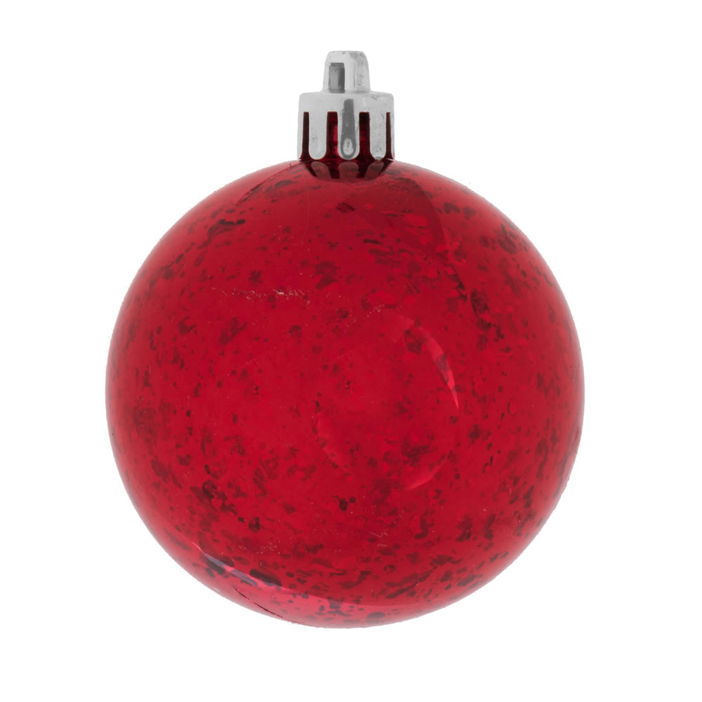 8 Inch Red Shiny Mercury Christmas Ball Ornament