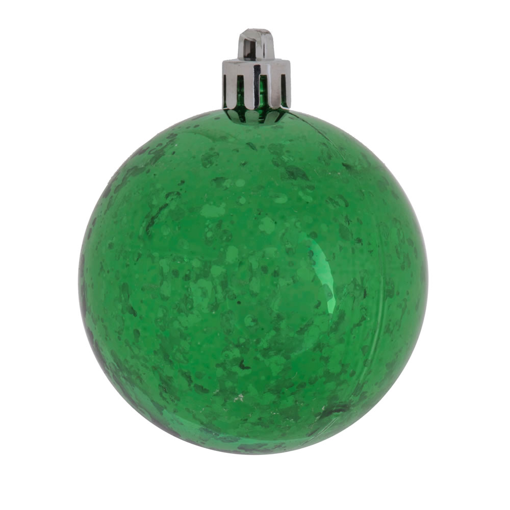 8 Inch Green Shiny Mercury Christmas Ball Ornament Shatterproof
